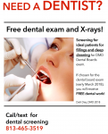 Free dental exam and x-rays