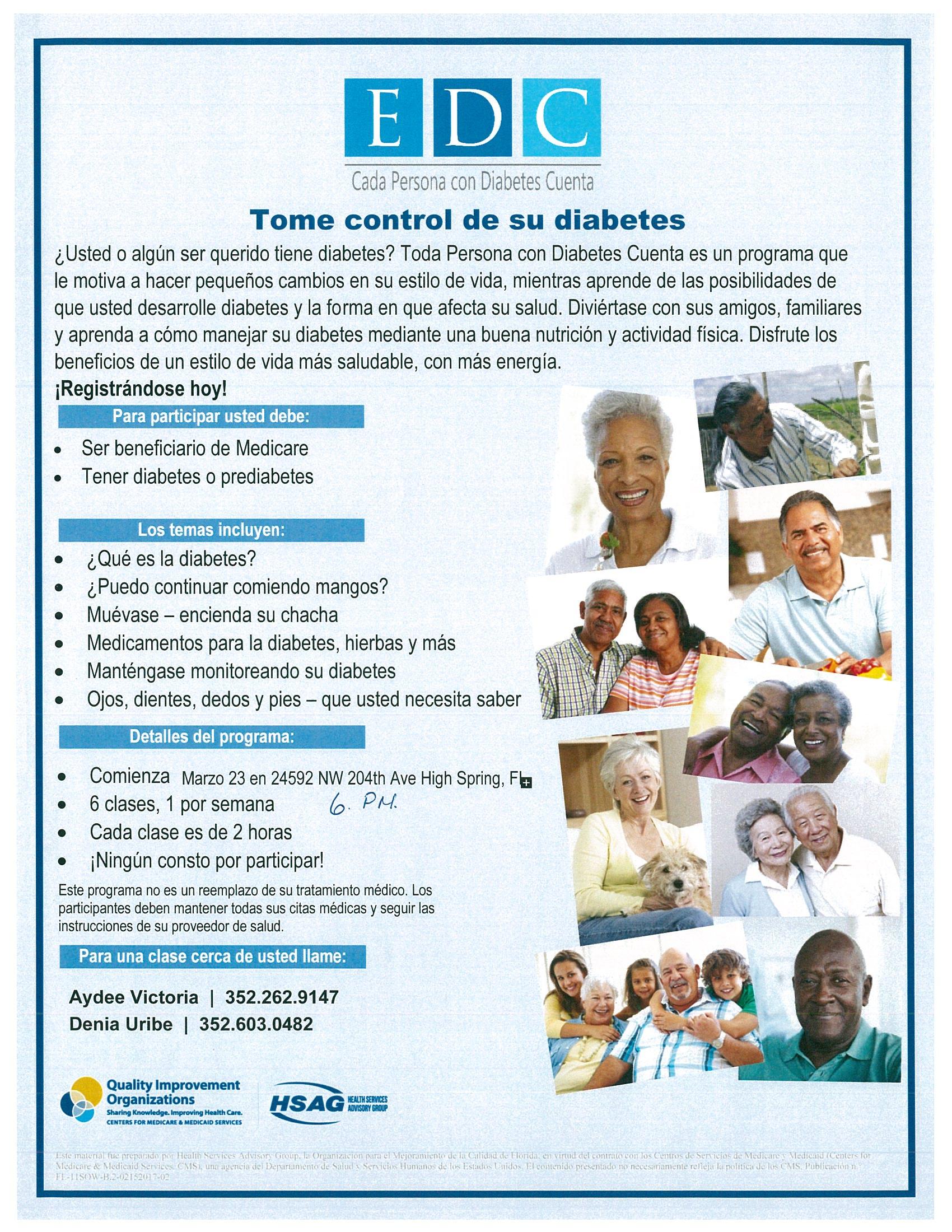 Tome control de su diabetes